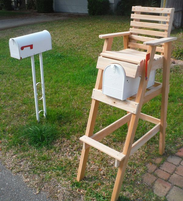 Lifeguard Chair Mailbox Ready For Your Paint Color It