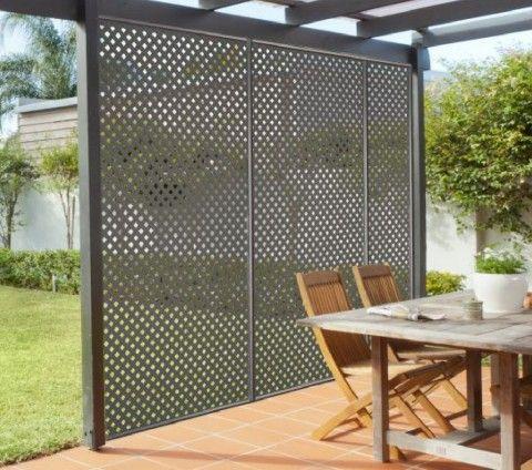 Paravan decorativ grilaj perete suport la pergola