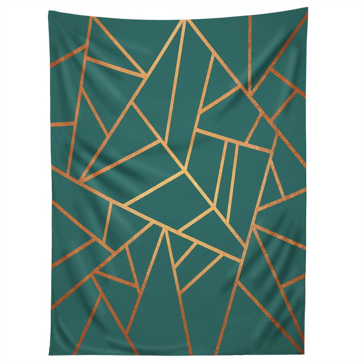 Elisabeth Fredriksson Copper and Teal Tapestry | DENY Designs Home Accessories