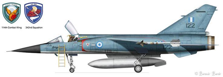 Dassault Mirage F1C 114 Fighter Wing Tanagra.