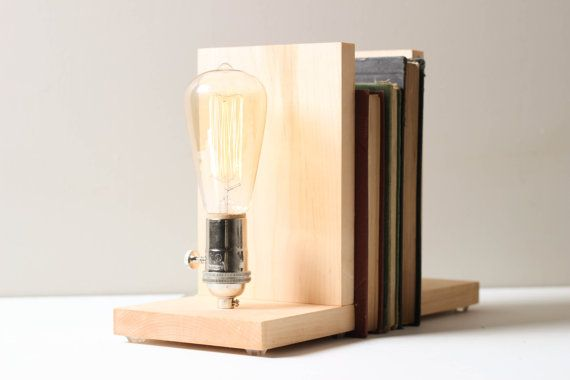 bookends:edison lighting