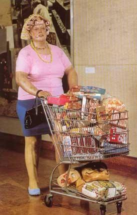 Duane Hanson – Kobieta z wózkiem na zakupy  HIPERREALIZM