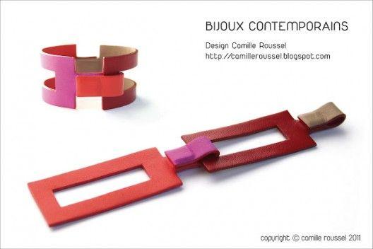 Les bijoux en cuir de Camille Roussel sur http://www.thetrendygirl.net