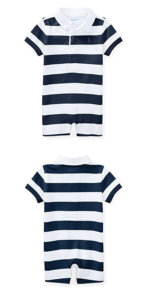 f205f93a9c6f RALPH LAUREN Baby Boys Striped Cotton Rugby Shortall