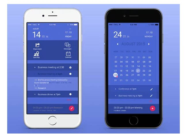 25 Gorgeous Examples Of Calendar Usage In Mobile UI Design