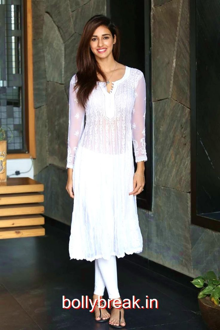 Disha Patani Images In White Dress At Lofer Movie Interview