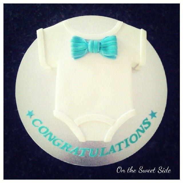 Baby Onesie Bow Tie Cake Baby Shower Pinterest