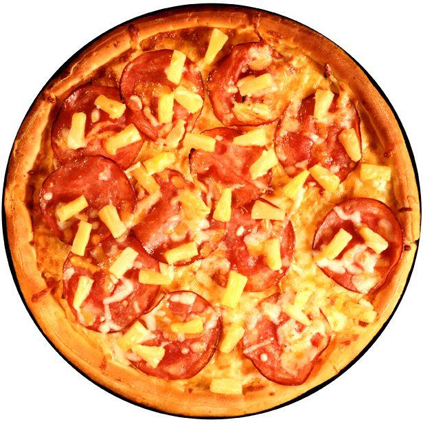 Pizza med rökt skinka och ananas | Recept.nu