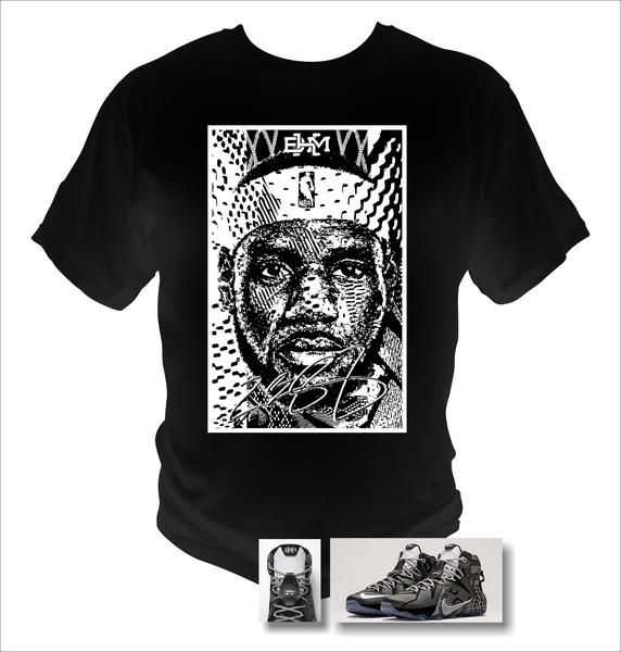 Lebron James 12 BHM Black T-Shirt Black History Month Theme