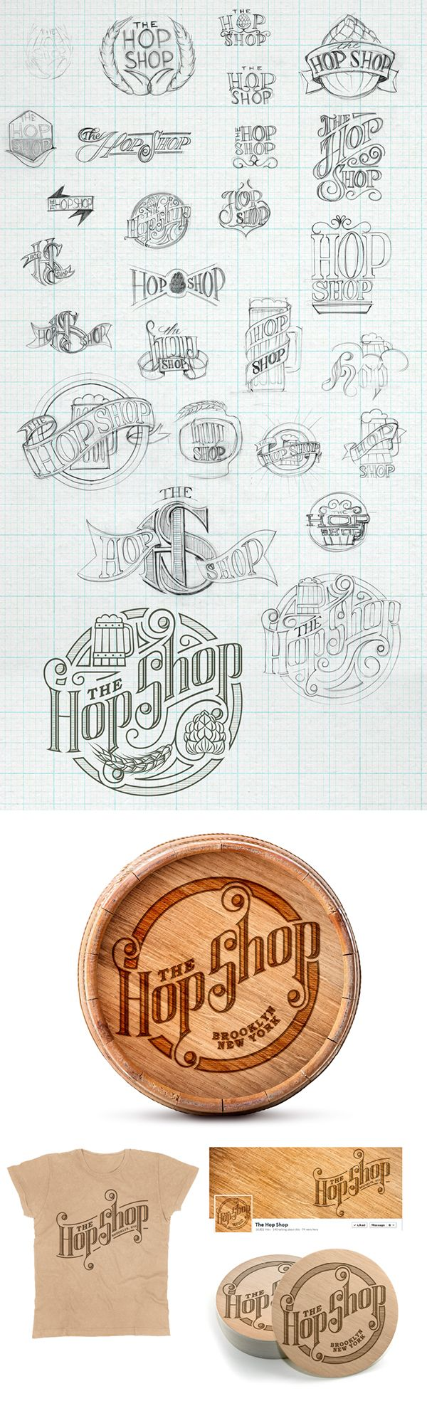 The Hop Shop  by Sam Holliss   #branding #typography      https://www.behance.net/gallery/19773053/The-Hop-Shop