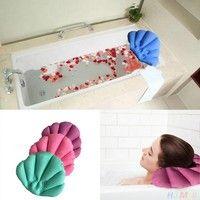 Wish | Bathroom Inflatable Bath Spa Pillow Head Back Neck Cushion Baignoire Rest (Size: 40cm by 30cm)