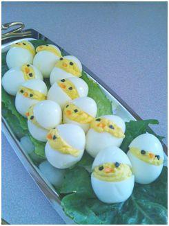 POUSSIN QUI SORT DE SA COQUILLE Pour 6 œufs – 6 œufs - 1 petite boîte de thon - 4 c. à soupe de mayonnaise - 1/2 c. à café de curry - quelques gouttes de jus de citron - Pour le décor bouts d'olives et carottes. POUR LA SUITE VOICI LE LIEN : http://www.lavenir.net/cnt/dmf20130329_00289443