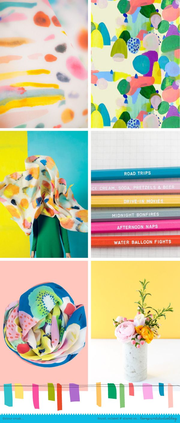 I thought I'd start the week off with a colour crush post.A  nice bright, fun, colourful selection of images, yum.Have a good week! 1 | 2 | 3 | 4 | 5 | 6 (clockw