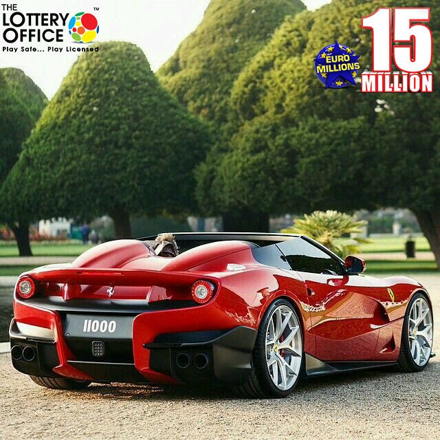Whom would you give your car to ig you won €15 million? Act now to win! #LotteryOffice