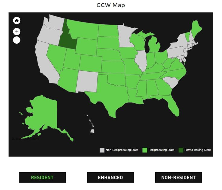 Hello Earthlings, we have created this concealed carry reciprocity map to make it easy to tell in which state your concealed carry permit is honored. This ccw map is fully interactive and shows reciprocity for resident permits, enhanced permits and non-resident permits. Check it out, pin and share. Warm Regards - Alien Gear holsters - http://aliengearholsters.com/concealed-carry-reciprocity-map