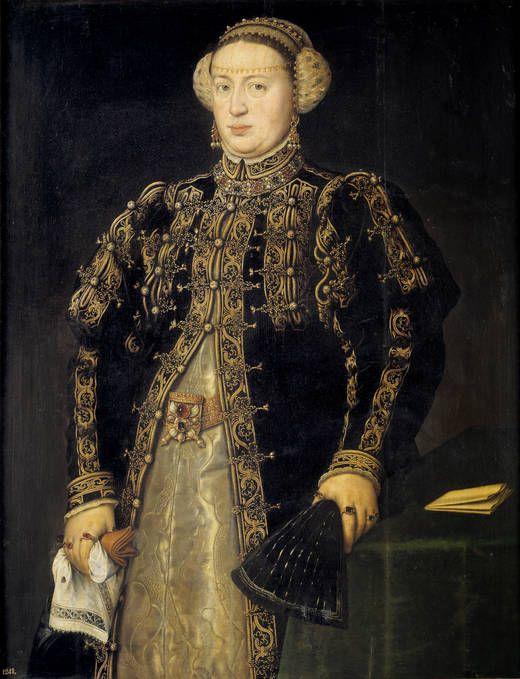 """Antonio Moro. """"Catalina de Austria, esposa de Juan III de Portugal"""" (1552 - 1553)"""
