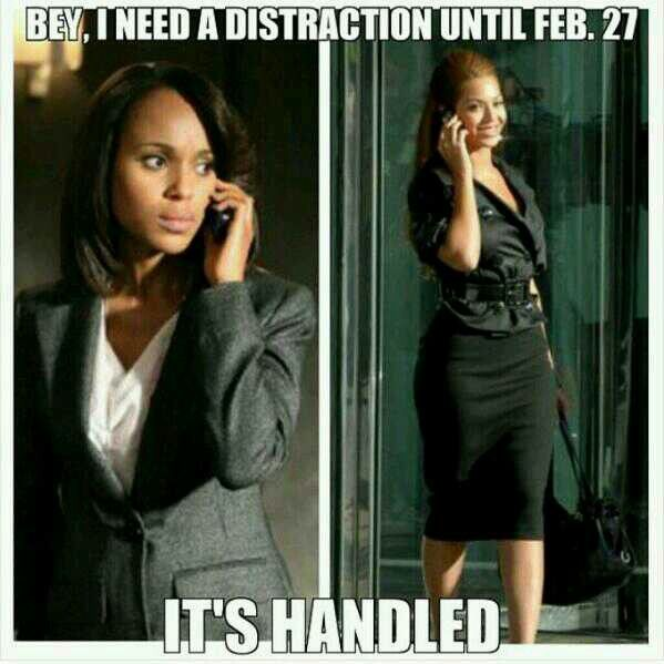 #Scandal yaasssss both of my loves #bey and #liv. Soon as scandal went off, Beyoncé dropped her album. Nice teamwork