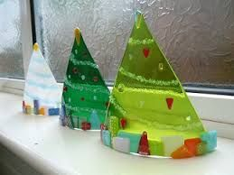 fused glass christmas decorations - Google Search