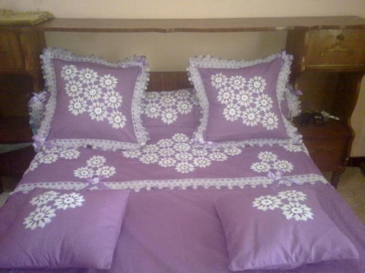 couvre lit crochet
