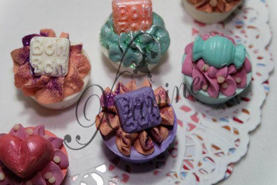 Cup-Cake de Jabón Cumpleaños Detalles Boda Comunión por LesXanines
