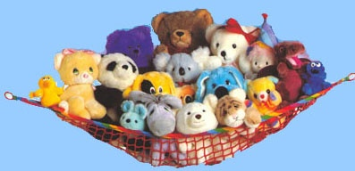 BUG'S SEVEN (the seven categories of toys we are sticking to)... His Stuffies and Babies category is complete...he doesn't need any more!!