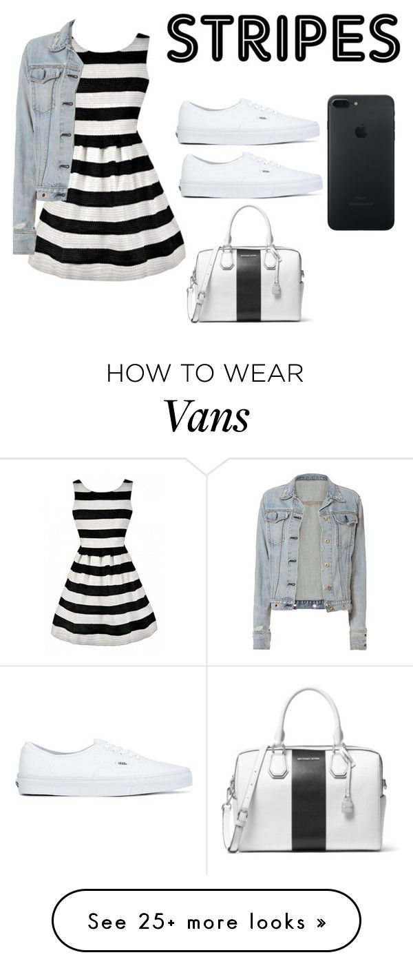 """stripes black and white"" by nadiapooh15 on Polyvore featuring rag & bone, Vans and MICHAEL Michael Kors"