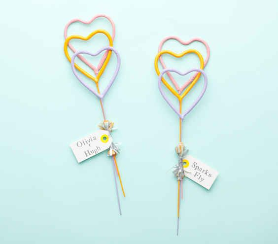 Hand out heart-shaped sparklers for your ceremony exit.   31 Impossibly Romantic Wedding Ideas