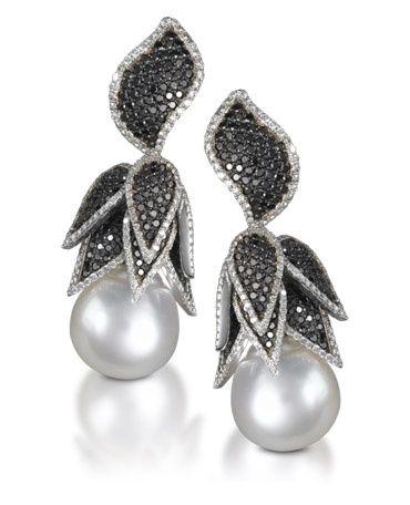 Pearl and diamond earrings!