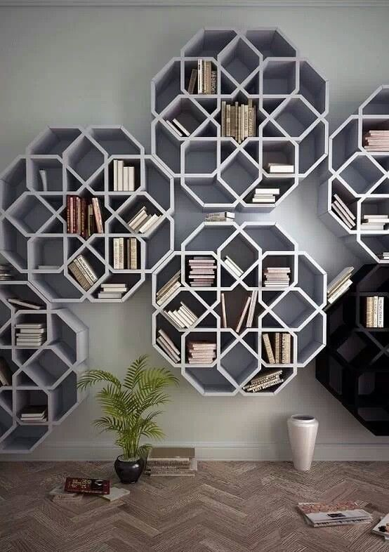 Bookshelves inspired by Moroccan tile mosaics | need/want