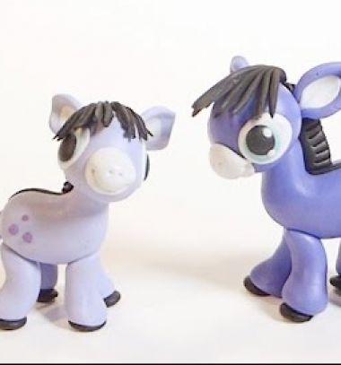 Purple donkey - step-by-step polimer clay tutorial // Lila csacsi - gyurma szamár figura lépésről-lépésre // Mindy - craft tutorial collection // #crafts #DIY #craftTutorial #tutorial #Clay #ClayTutorials #ClayCrafts #Gyurmázás