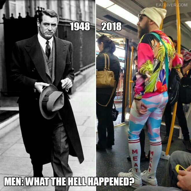 "Omg YES! Nothing better to this woman than seeing a sharp dressed man! America & modern day culture has done nothing but become lazy, ugly & worship their new found religion, ""political correctness""...men now days can't decide if they identify as a man or a woman ...yes Cary Grant, they don't make many men like you anymore."