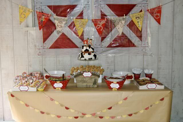 Pendant BannerFood Display, Cowgirls Parties, Food Tables, Birthday Parties, Barnyard Parties, Cowboy Parties, Parties Ideas, Toys Stories Birthday, Toys Stories Parties