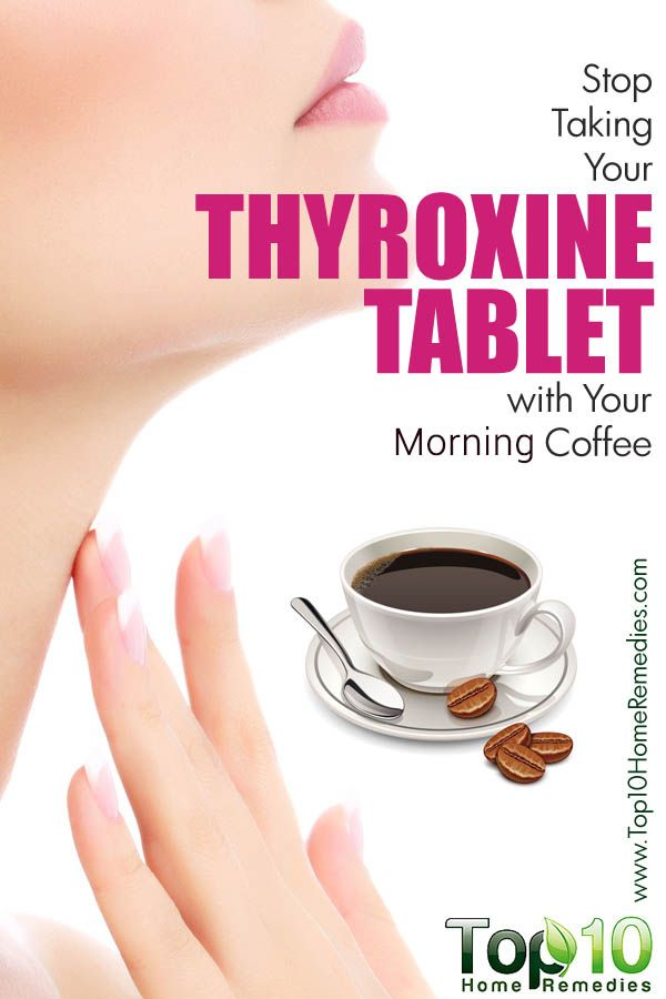 thyroxine coffee
