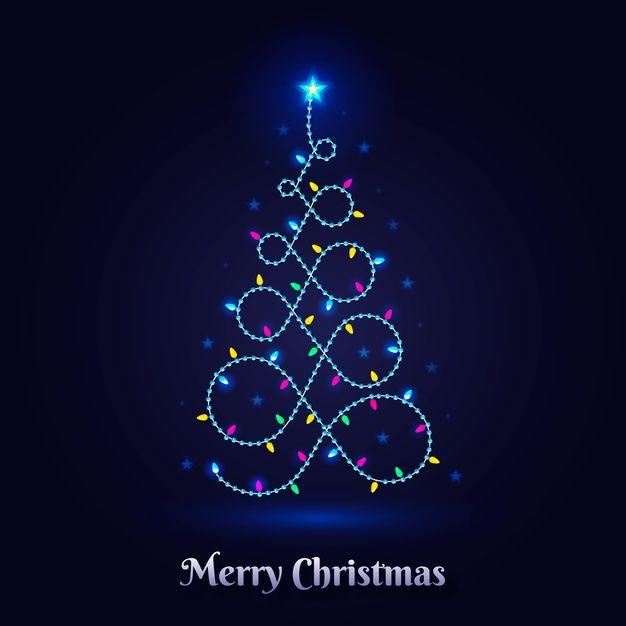 Download Christmas Tree Concept Made Of Light Bulbs For Free In 2020 Christmas Tree Christmas Vectors Christmas