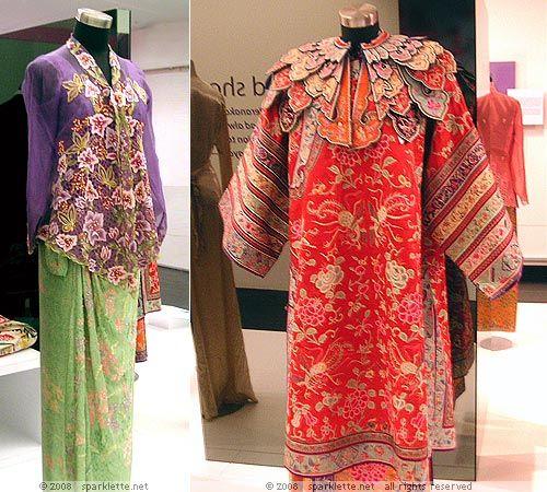 Sarong kebaya & bridal wedding garment worn by Nonyas, the Chinese Peranakan women