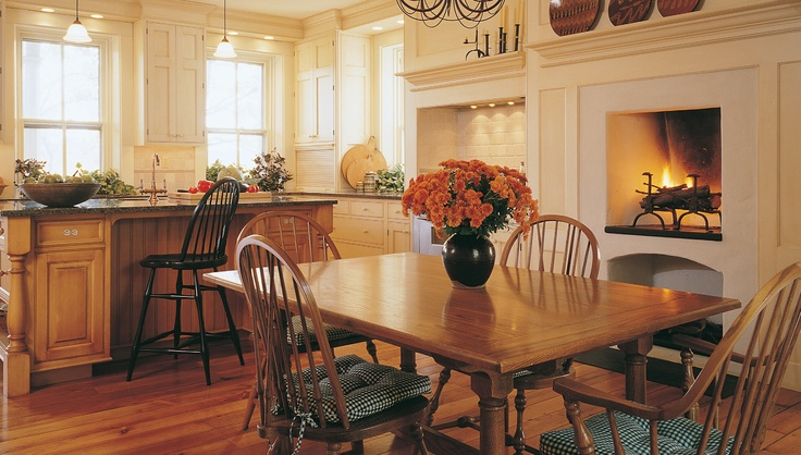 Early American Country KitchenEarly American Homes, Ears American, Country Colonial, Kitchens Ideas, Country Decor, American Design, Favourite Kitchens, Country Apartments, American Country Kitchens