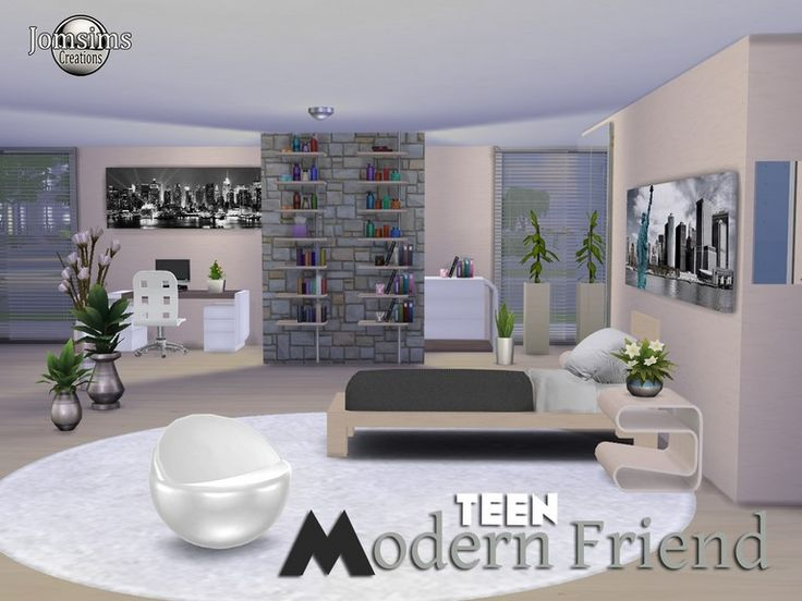22 best chambre sims 4 images on pinterest bedrooms for Chambre adolescent