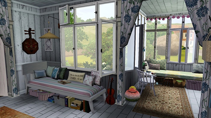 A french cottage from pink rabbit sims pinterest for Interior design inspiration 2014
