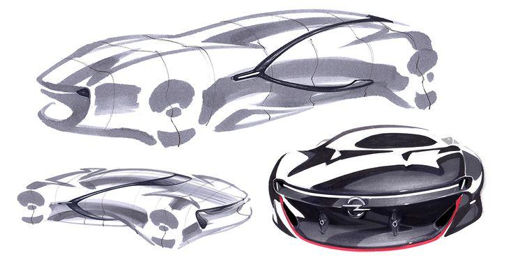 Pforzheim university, MATD 1st semester project, OPEL - XT, Extendable car in…