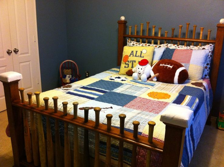 Baseball Bat Headboards Furniture | Baseball Bat Bed - by Les Hastings @ LumberJocks.com ~ woodworking ...