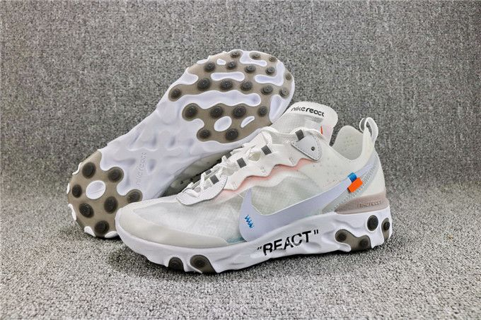 lowest price 00269 68b58 Top OFF-WHITE x Nike Upcoming React Element 87 AQ0068-100