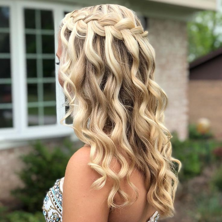 Happy prom day Makayla MacKenzie !! #promhair #curledhair #updo # … #final #curledhair