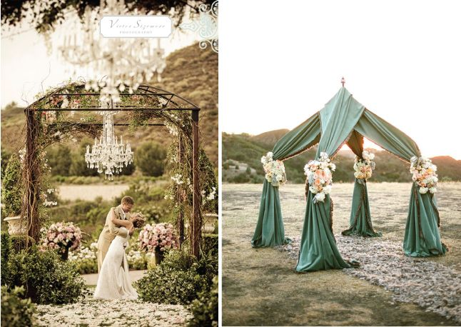101 best images about wedding chuppah arches on pinterest for Decorating a trellis for a wedding