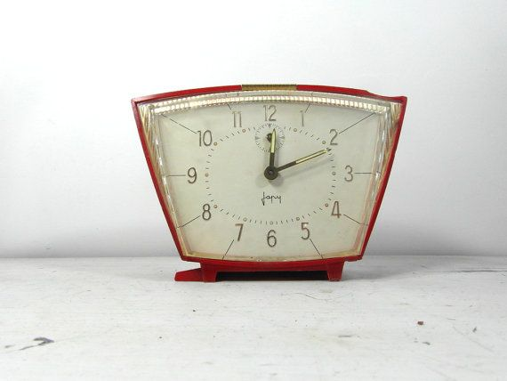 Japy alarm clock red French alarm clock by frenchvintagedream