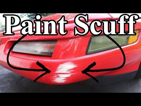 How to Remove Paint Scuffs On Your Car (Paint Transfer) - YouTube