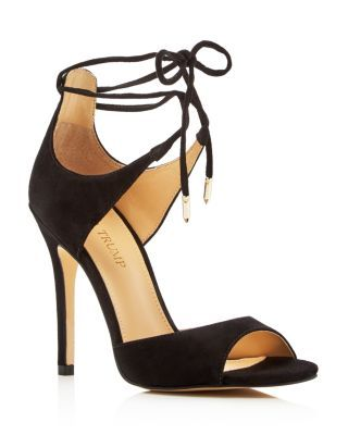 A bonafide contender for the front of your shoe closet, these suede lace-up sandals by Ivanka Trump have sophisticated style on lock. | Suede upper, synthetic lining, synthetic sole | Imported | Fits