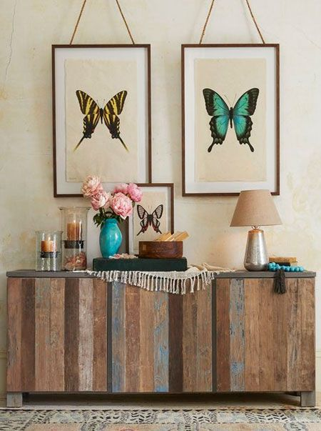 homedzine trends give reclaimed wood a more trendy look with coloured