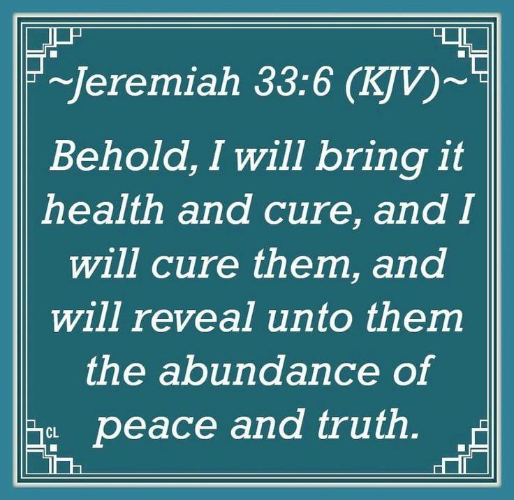 Jeremiah 33:6 KJV
