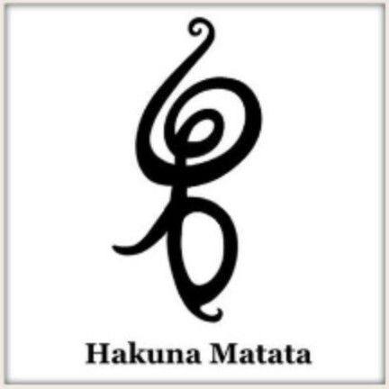 Hakuna Matata Tattoo Symbol......I kind of really want this! I LOVE THE LION KING!!