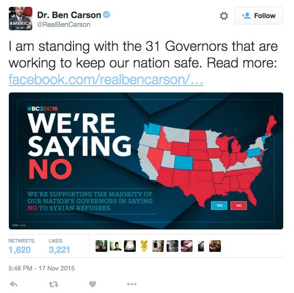 Ben Carson's campaign made a U.S. map and put a bunch of states in the wrong place